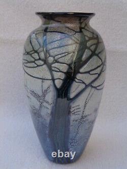 Rick Satava Mount Shasta Art Glass Vase 7