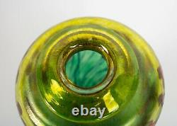 Robert Held Art Glass California Red Poppy Vase Rare