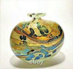 SIGNED 1982 PETER LAYTON British Studio Art Glass vase