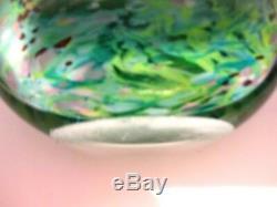 SIGNED PETER LAYTON British Studio Art Glass vase sculpture