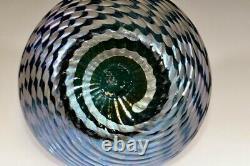 SMALL Stunning KRALIK IRIDESCENT Glass VASE Dramatic Colors ART NOUVEAU c. 1900