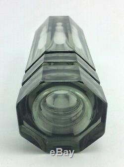 Smoked art glass vase attr. To Moser Josef Hoffmann