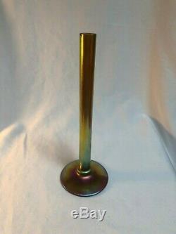 Steuben Gold Aurene Art Glass 8 Stick Vase Signed & #2556 Carder Classic
