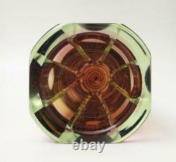 Stunning Contemporary Czech Studio Art Glass Vase Sommerso Pavel Havelka Style