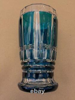 Stunning Vintage Val St. Lambert Art Glass Dark Teal Vase by Charles Graffart