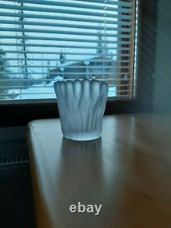 Tapio Wirkkala, art glass sculpture, Lichen Finger Vase, Jäkälä, Iittala Finland