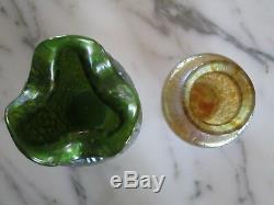 Two Loetz Art Glass Cabinet Vases (Diaspora/Papillon)