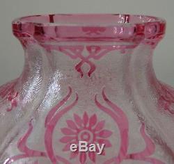 VAL SAINT LAMBERT / BACCARAT Art Nouveau Vase