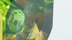 VASE EXBOR OLDRICH LIPSKY 1964 GREEN 60s H. 17 cm CZECHOSLOVAKIAN ART GLASS