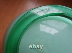 VENINI Art Glass Vase signed Venini 2001 12 x 5 Hand Made in Italy