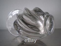 Vase Cristal Pierre D Avesn Verrerie Art Deco Vintage Glass 1930