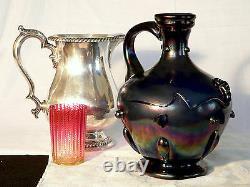 Vase, JUG, ewer, art glass, Webbs Patent, J. T. HR, Bronze glass, Victorian, 10t