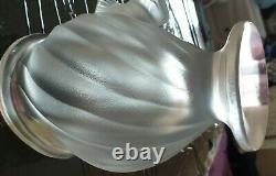 Vase Lalique Hand Finished Twin Flying Dove's Crystal Art-absolutely Stunning
