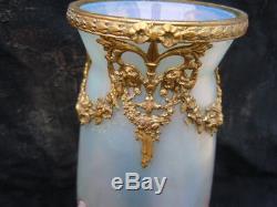 Vase verre irisé glass Kralik Wilhelm glass paire vases d'époque Art Nouveau