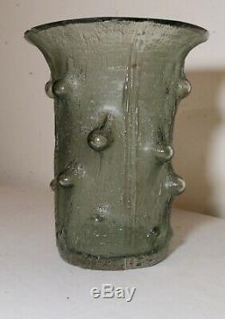 Vintage 1964 Timo Sarpaneva Finlandia Littala Art green Glass Vase Scandinavian