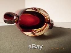 Vintage Flavio Poli for Seguso Vetri d'Arte Murano Art Glass Vase