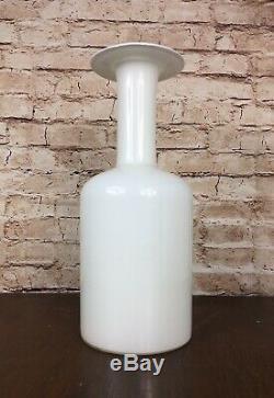 Vintage Homegaard Gulvase Opal White Art Glass Gul Vase Galvvase Otto Brauer