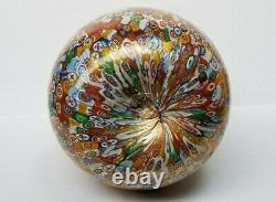 Vintage Large Italian Venetian Murano Millefiori Art Glass Vase