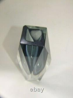 Vintage Murano Seguso Sommerso Art Glass Vase Mid -Century Retro 1950's