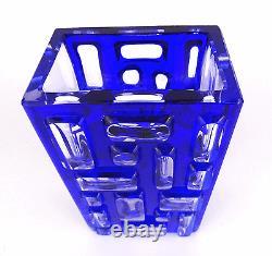WMF Glas 60er Vase, Block, Kubus, Cube, Textured Design Art Glass 1960 modernist vtg