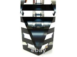 World Class! Murano Art Glass Faceted Space Age Block Vase Dusky Blue Unusual