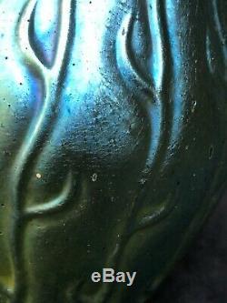 1900 Loetz (lotz) Neptun Crète Silberiris Art Glass Vase Design Seaweed