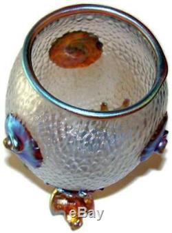 1903 Loetz Art De Verre Art Nouveau Iridescent Candia Martele Nautilus Vase