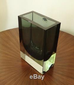 1963 Nuutajärvi Nutsjo Art Glass Vase Kaj Franck Finlande Kf 262-mcm-ex