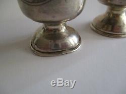 2 Russe 84 Argent Kiddouch Coupe Du Tir Taille Du Verre Vase Sculpture Antique Ornement