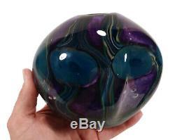 2008 Robert Eickholt Studio Art Glass Vase Paperweighted Undersea Anémones Lourd