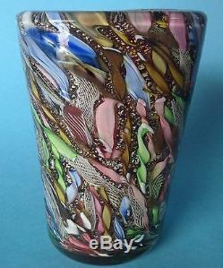 2von4 Art Vase En Verre Avem Murano Verre Aureliano Toso Murano Dino Martens 1955