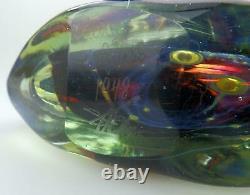A Good Maltese Mdina Art Glass Fish / Axe Head Vase Signé Dobson C. 1978