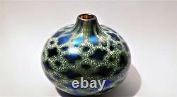 A Signed 2000 Siddy Langley Vase En Verre D'art