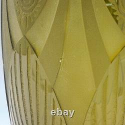 A Tall Art Déco Vase Par Legras C1930
