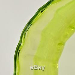Allemand Wmf Jugendstil Art Nouveau En Laiton Argenté Vase En Verre Vaseline Insert