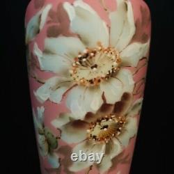 Antique Art Nakara Vase En Verre Victorien Antique Cf Monroe Peint À La Main Vase