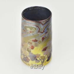 Antique Art Nouveau Français Iridescent Vase En Verre Par Amédée De Caranza
