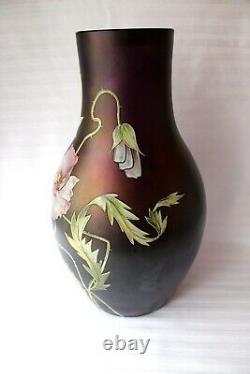 Antique Bohemian Art Nouveau Ferdinand Von Poschinger Vase En Verre Vers 1900