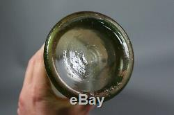 Antique Français Legras Émaillé Vase En Verre Camée Rivière Scène Art Nouveau C1910