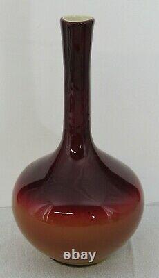 Antique Glossy Wheeling Peach Blow Peachblow Victorian Art Glass 10 Stick Vase