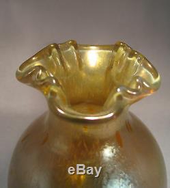 Antique Loetz Art Vase En Verre Astraa Decor Circa. 1900, Époque Kralik Rindskopf Pallme