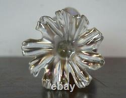 Antique Loetz Candia Papillion Iridescent Glass Seashell Bud Vase Art Nouveau 7