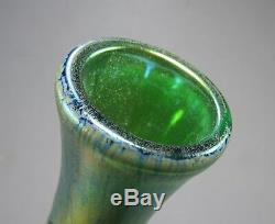 Antique Loetz Gravé Silberiris Leaf Dek Art Glass Vase Ca 1903 Rare Décor 9 T