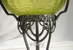 Antique Loetz Kralik Bronze Art Nouveau Vase En Verre Irisé 57817