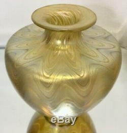 Antique Loetz Phaenomen Iridescent Art Nouveau Vase En Verre Unsigned Jugendstil