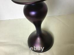 Antique Loetz Rubin En Verre D'art Matte Iris Vase En Verre Irisé Pnii-328