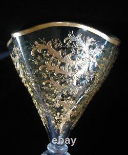 Antique Moser Art Glass Vase Gilt Émail