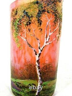 Antique Pate De Verre Vase Glass Art Français Lamartine C. 1910