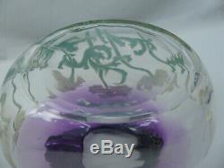 Antiques Legras Mont Joye Améthyste Émail Coquelicot Français Art Glass Vase
