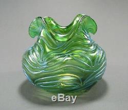 Antiquité Loetz Vase Art Squats En Verre Art Décoré Formosa Décor Ca 1902 Belle Couleur